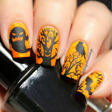 halloween nails diy scary mike myers nail art design tutorial 50