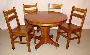 circa 1900 craftsman round dining table h4round mission style oak