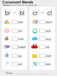 consonant blends practice bundle teaching phonics consonant
