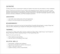 11 police officer job description templates u2013 free sample