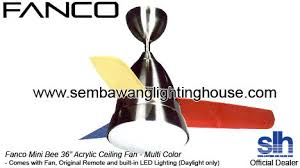 Multi Colored Ceiling Fans by Fanco Mini Bee 36