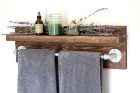 Bathroom Shelves With Towel Rack Extraordinary Bathroom Shelf Towel Bar Ideas Outstanding Bathroom