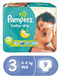 Comfort Diapers Pampers Baby Dry Diapers Size 3 Comfort Pack X 8 72 Count