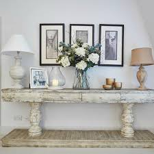 Grey Console Table Large Distressed Grey Console Table With Shelf And Drawers