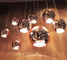 chrome golden round glass tom dixonss pendant lighting bar living