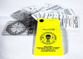 esee knives izula gear pocket nav card set with rite in the rain