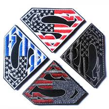 Iron On American Flag Superman American Flag Usa Army Military Tactical Patch Hook