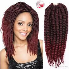 hair feathers ombre burgundy synthetic braiding hair crochet afro