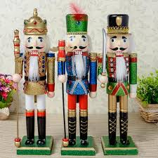 d326free shipping 38cm color pink nutcracker soldier wood