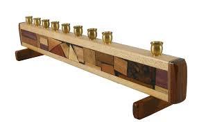 wooden menorah hanukkah menorah mosaic hanukiah modern decorative