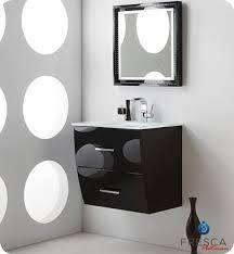 Wall Mounted Bathroom Cabinets Modern Fresca Platinum Wave Single 24 Inch Modern Wall Mount Bathroom