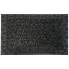Welcome Mat Wipe Your Paws Clean Machine High Traffic Desert Taupe 18 In X 30 In Door Mat