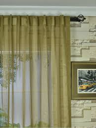 qy7151skb laura striped back tab sheer curtains