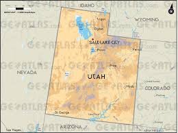 County Map Utah by Geoatlas United States Canada Utah Map City Illustrator
