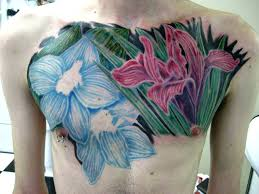 21 bold flower tattoos on me now