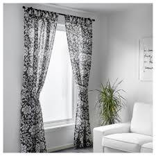 Ikea Gray Curtains Ikea Kungslilja Curtains With Tie Backs 1 Pair Gray White