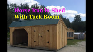 Loafing Shed Plans Horse Shelter by 12x20 Run In Shed And Tack Room Horse Barn Youtube