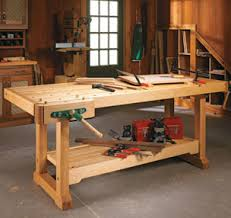 Build Wood Workbench Plans by Workbenches Carts U0026 Stands Woodsmith Plans
