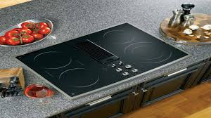 Ge Glass Cooktops Ge Profile 30 Stainless Steel Electric Cooktop With Downdraft