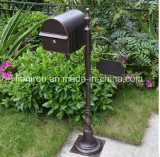ornamental outdoor wrought iron post box china cast iron mail