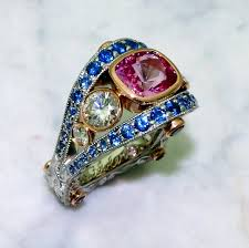 sapphires rings images Pink sapphire rings and jewelry elichai png