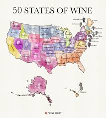 Map Of Nevada And Surrounding States 50 States Of Wine Map Wine Folly