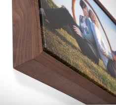 solid wood framed prints redipix floating wrap walnut hardwood frame