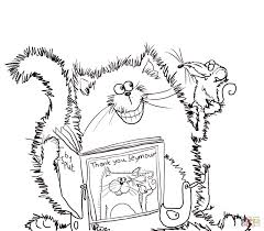 splat the cat says thank you coloring page free printable
