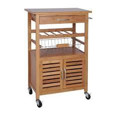 étagère à roulettes cuisine meuble desserte de cuisine sur en bambou avec range bouteille