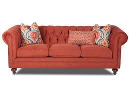 Klaussner Home Furnishing Klaussner Charlotte Traditional Chesterfield Sofa With Nailhead