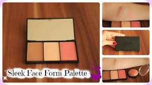 sleek makeup face form contour blush palette review live swatches you