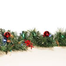 Pre Decorated Christmas Garland Cordless 6 U0027 Castle Hill Led Pre Lit Artificial Christmas Garland