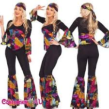 ladies 60s 70s retro hippie go go disco costume hens party