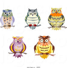 royalty free clip art vector logos of perched owls by vector