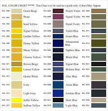 general color chart template business templates general color