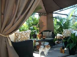 White Outdoor Curtain Panels Patio Pizazz Com U2013 Outdoor Gazebo Drapes