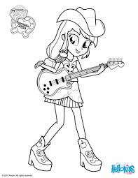 My Little Pony Coloring Pages Applejack Equestria Girls Free My Pony Coloring Pages Fluttershy Equestria Free