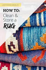 how to store a rug life storage