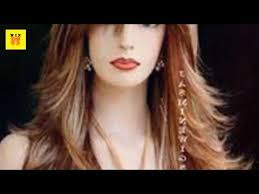 hair styles for round faces and long noses long layers with side bangs hairstyle for round face women youtube