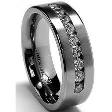 buy titanium rings images 8 mm men 39 s titanium ring wedding band with 9 large channel set jpeg