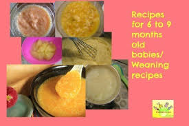 table food ideas for 9 month old baby food recipes 6 to 9 months old wholesome weaning recipes