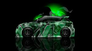 green nissan juke nissan juke side anime aerography car 2014 el tony