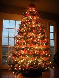 35 orange theme tree decorations ideas tree