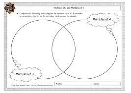 multiples venn diagram worksheet math me thinks using venn