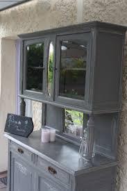 meuble cuisine vaisselier vaisselier patiné et ciré dessus béton ciré meubles et