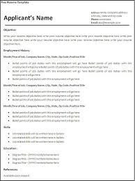 Free Sample Resume Templates Word Resume Template Word 2007 Free Resume Templates Template Mac