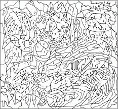 hard color by number coloring pages aecost net aecost net