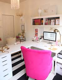 White L Shaped Desks L Shape Desk Ikea Hack Gold White And Magenta Office Decor Hupehome