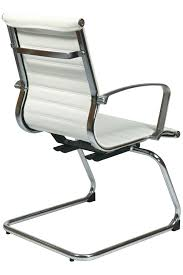 Guest Chairs by 74523 Office Star Modern White Eco Leather Visitors Chair