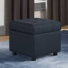 navy blue and white ottoman catchy navy blue storage ottoman with tufted storage ottoman bench
